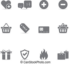 Single Color Icons - Ecommerce
