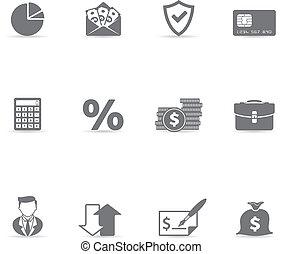 Single Color Icons - More Finance - Finance icon set. Font...