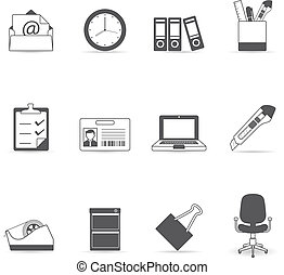 Single Color Icons - More Office