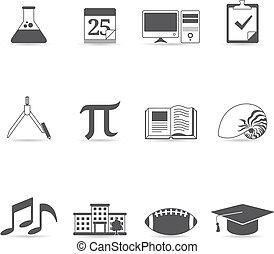 Single Color Icons - More School