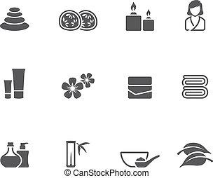 Single Color Icons - Spa