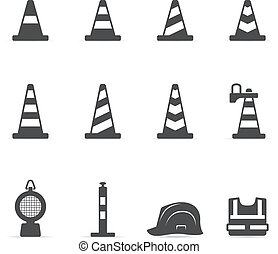 Single Color Icons - Traffic Sign - Traffic warning sign...