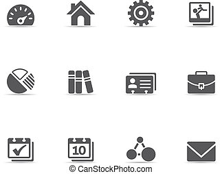 Single Color Icons - Universal - A set of universal web...