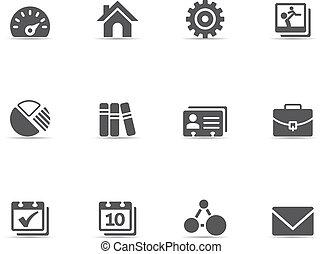 Single Color Icons - Universal - A set of universal web...