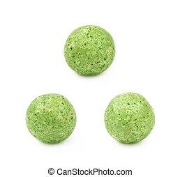 Single colored foam ball - Single green colored foam ball or...