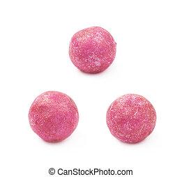 Single colored foam ball - Single pink colored foam ball or ...