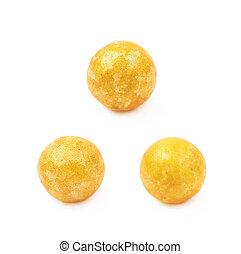 Single colored foam ball - Single yellow colored foam ball ...