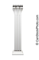 Single column isolated on white background. 3d rendering