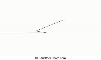 Single continuous line art graduation cap. Online education course master class learning one sketch outline drawing animation video.