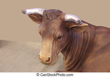 Single Cow or Bull Resting
