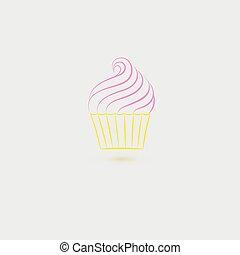 Single Cupcake Icon
