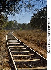 Single Curved Railway Track