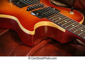 Single Cutaway Solid Guitar - A ssolid wooden single cutaway...