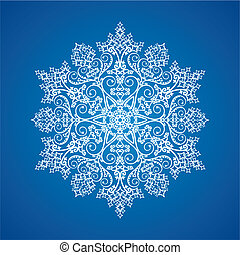 Single detailed snowflake - Single white large detailed...