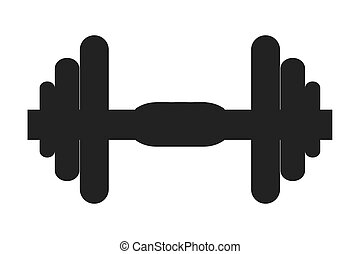 single dumbell icon - flat design single dumbell icon vector...