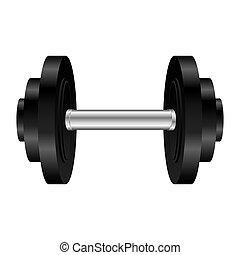 single dumbell icon image vector illustration design