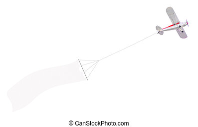Single engine plane with banner