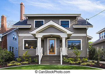 American craftsman house - Single-family American craftsman...