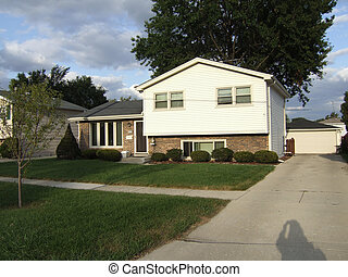 Single family home in Midlothian, Illinois in the south suburbs of Chicago