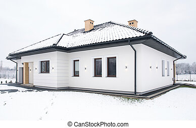 Single family house - Exterior of single family house during...