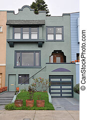Single family house two stories with garage - Single family...