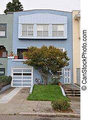 Single family house two stories with garage