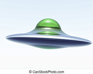 single flying saucer illustration