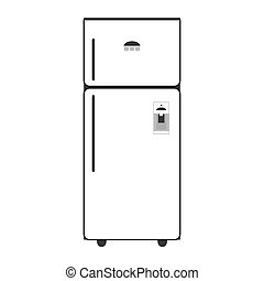 single fridge icon