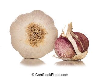 single garlic clove studio cutout