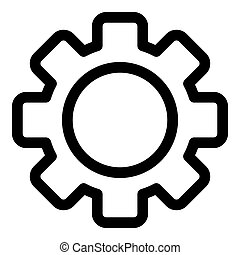 Single gear icon, outline style