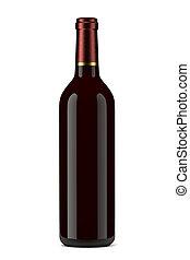 Wine Bottle - Single Glass Wine Bottle without Label on ...