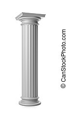 Greek Column on White
