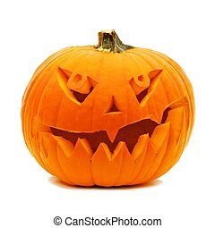 Halloween Jack o Lantern isolated