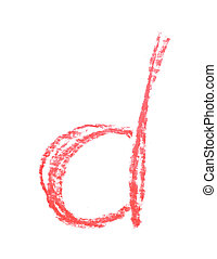 Single hand drawn letter isolated