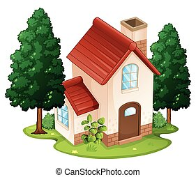 Single house on the island