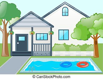 Single house with swimming pool