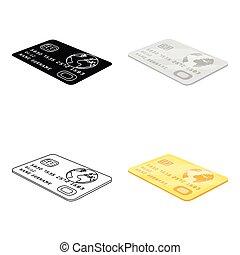 single icon in cartoon style.Credit, vector symbol stock illustration web.