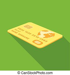 single icon in flat style. Credit, vector symbol stock illustration web.