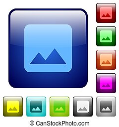 Single image color square buttons