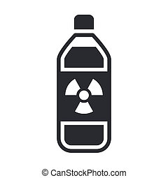 Single isolated vector illustration of nuclear waste in bottle