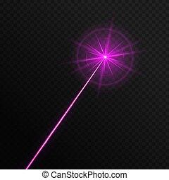 Single laser beam - A single laser light of a purple color ...