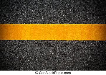 Single Line on the asphalt