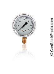 Single manometer isolated on white background with ...