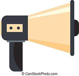 Single megaphone icon, cartoon style