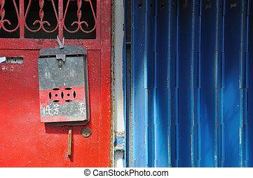 Single Metal Mailbox, Hong Kong - Single old metal postbox ...
