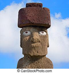 Single Moai at Easter island