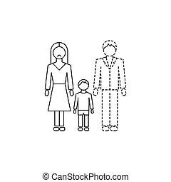 single moeder, pictogram