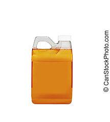 motor oil bottle isolated