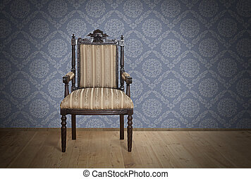 Old Antique armchair from Victorian era - Single Old Antique...