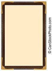 Single Page Menu - a single page leather menu